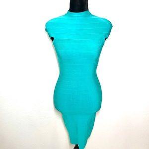 BEBE Aqua Bandage Dress!